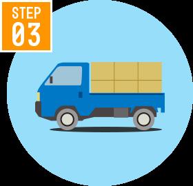STEP03:引越作業、買取作業も一度で終わる
